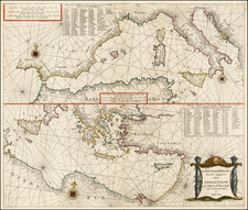 Mediterranean and Balearic Islands Map By Arnold Colom