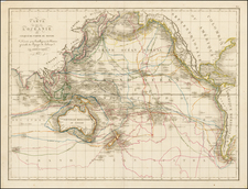 World, Australia & Oceania, Pacific, Oceania, Hawaii and Other Pacific Islands Map By Pierre Antoine Tardieu