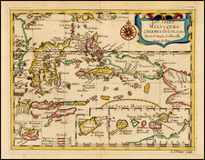 Southeast Asia and Other Islands Map By Nicolas Sanson