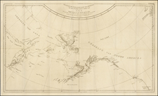 Polar Maps, Alaska, Pacific, Russia in Asia and Canada Map By James Cook / J. C. G. Fritzsch