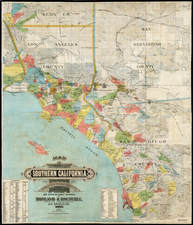 California Map By Schmidt Label & Litho. Co. / Howland & Koeberle
