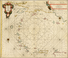Caribbean and South America Map By Arnold Colom