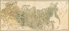 Alaska, Russia and Russia in Asia Map By A.F. Busching