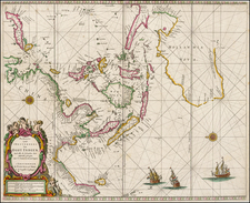 Indian Ocean, China, Southeast Asia and Australia Map By Pieter Goos