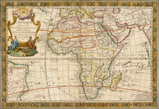 Africa and Africa Map By Louis Charles Desnos