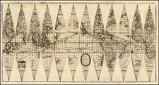 World, World, Curiosities and Celestial Maps Map By Vincenzo Maria Coronelli