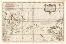 Polar Maps, Midwest, Alaska, Canada, Russia in Asia and California Map By Jacques Nicolas Bellin