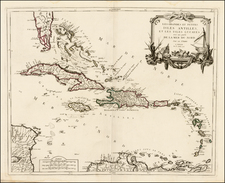 Caribbean and Bahamas Map By Paolo Santini