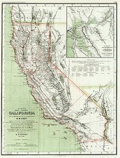 California Map By Dietrich Reimer  &  Heinrich Kiepert