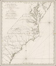 Mid-Atlantic and Southeast Map By Odet-Julien Le Boucher
