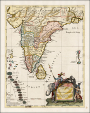 India and Other Islands Map By Giacomo Giovanni Rossi - Giacomo Cantelli da Vignola