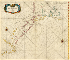 New England, Mid-Atlantic and Southeast Map By Arnold Colom