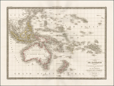 Southeast Asia, Australia, Oceania and Other Pacific Islands Map By Alexandre Emile Lapie