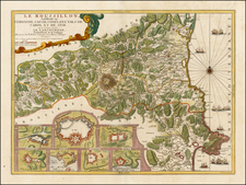 France and Spain Map By Nicolas de Fer / Guillaume Danet