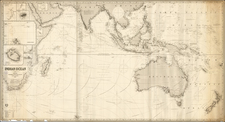 Indian Ocean, China, India, Southeast Asia, Philippines, Other Islands, Australia and New Zealand Map By James Imray & Son