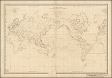 World, World and Polar Maps Map By Depot de la Marine