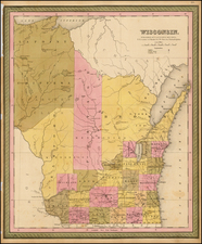 Midwest Map By Samuel Augustus Mitchell