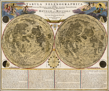 Curiosities and Celestial Maps Map By Johann Baptist Homann