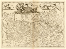 France Map By Vincenzo Maria Coronelli