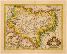 Romania Map By  Gerard Mercator