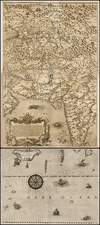 India, Other Islands and Central Asia & Caucasus Map By Giovanni Francesco Camocio