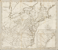United States, Mid-Atlantic and Southeast Map By Anonymous