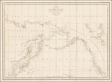 Alaska, Pacific, Russia in Asia and California Map By Jean Francois Galaup de La Perouse