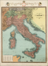 Austria and Italy Map By Anonymous