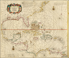 Mid-Atlantic, Florida, South, Southeast, Mexico, Caribbean, Central America and South America Map By Arnold Colom
