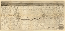 Plains, Southwest and Rocky Mountains Map By Woodward, Tiernan & Hale