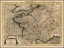 France Map By Jan Everts Cloppenburgh