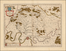 France and Paris Map By Willem Janszoon Blaeu