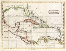 Caribbean Map By Richard Brookes