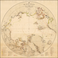 Polar Maps, Alaska and Canada Map By United States Dept. of the Navy