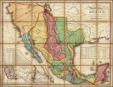 Texas, Plains, Southwest, Rocky Mountains, Mexico, Baja California and California Map By Henry Schenk Tanner