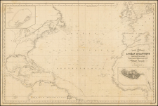 Atlantic Ocean, United States and Caribbean Map By Aime Robiquet