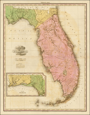 Florida and Southeast Map By Henry Schenk Tanner
