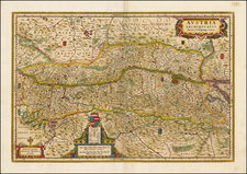 Austria and Czech Republic & Slovakia Map By Henricus Hondius