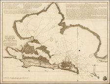 Caribbean and Puerto Rico Map By Cosme Damian de Churruca y Elorza