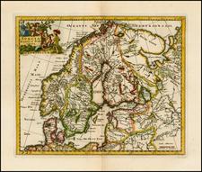 Scandinavia Map By Philipp Clüver