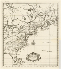 United States, Southeast, Midwest, North America and Canada Map By Thomas Salmon