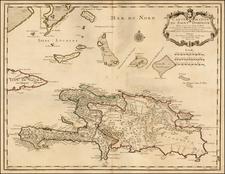 Caribbean Map By Guillaume De L'Isle