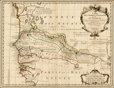 West Africa Map By Guillaume De L'Isle