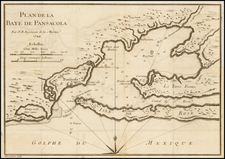 Florida Map By Jacques Nicolas Bellin