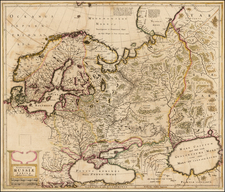 Russia and Ukraine Map By Henricus Hondius