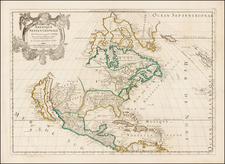 North America Map By Guillaume Sanson / Pierre Mariette