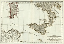 Europe, Italy and Balearic Islands Map By Giovanni Antonio Rizzi-Zannoni