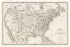 United States, Southwest and Rocky Mountains Map By Jean Baptiste Poirson / A.R. Fremin