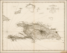 Caribbean and Hispaniola Map By Ambroise Tardieu