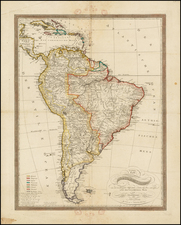 South America Map By Johann Walch